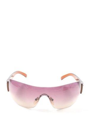 Prada eckige Sonnenbrille lila-hellorange Farbverlauf Casual-Look