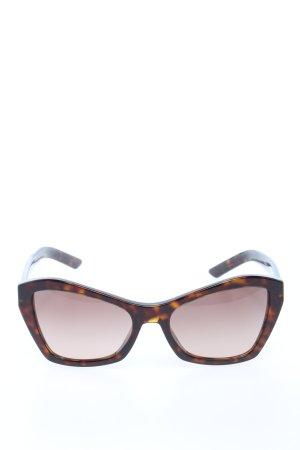 Prada Occhiale da sole spigoloso marrone motivo astratto stile casual
