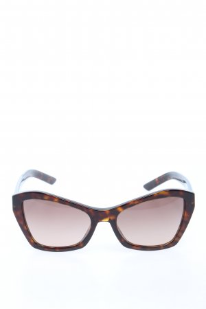 Prada Angular Shaped Sunglasses brown abstract pattern casual look