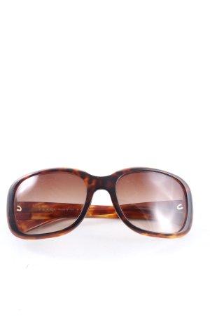Prada Occhiale da sole spigoloso marrone Stampa leopardata stile casual