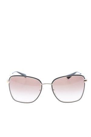 Prada eckige Sonnenbrille goldfarben-schwarz Casual-Look