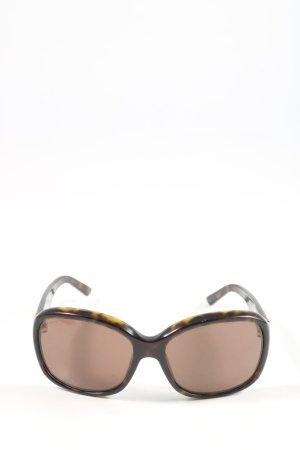 Prada eckige Sonnenbrille braun-hellorange Leomuster Casual-Look