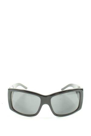 Prada Occhiale da sole spigoloso nero Stampa a tema stile casual