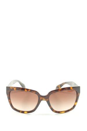 Prada eckige Sonnenbrille braun Animalmuster Elegant