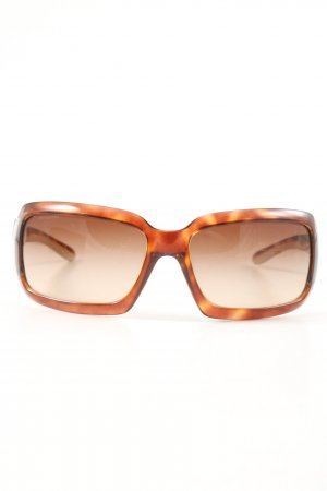 Prada eckige Sonnenbrille hellorange abstraktes Muster Casual-Look