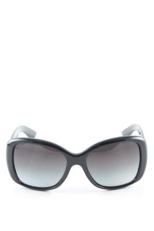 Prada eckige Sonnenbrille schwarz Casual-Look