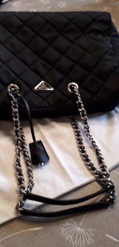 Prada Handbag black-silver-colored