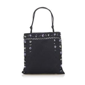 Prada Embellished Satin Handbag