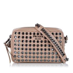 Prada Embellished Solf Calf Crossbody Bag