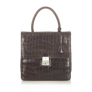 Prada Embossed Leather Handbag