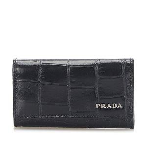 Prada Embossed Leather Key Holder