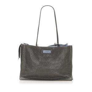 Prada Etiquette Leather Tote Bag