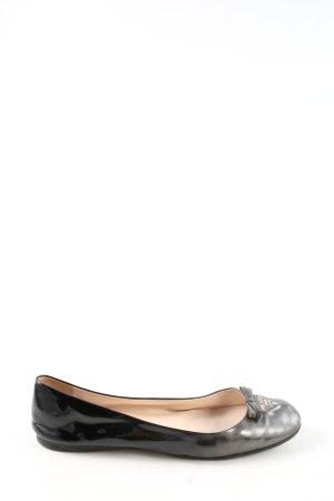 Prada faltbare Ballerinas schwarz-braun Farbverlauf Casual-Look
