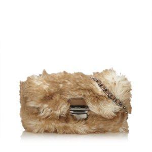 Prada Faux Fur Chain Bag