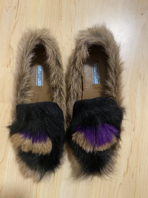 Prada Fell Loafer Slipper Halbschuhe Fur 39 neuw