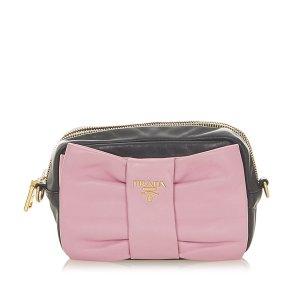 Prada Fiocco Bow Leather Crossbody Bag