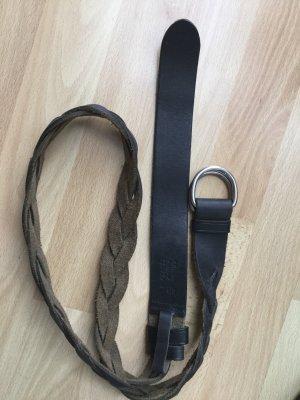 Prada Cintura di pelle marrone scuro