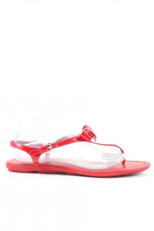 Prada Flip Flop Sandalen rot Casual-Look