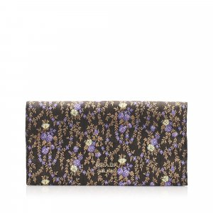 Prada Floral Silk Clutch Bag