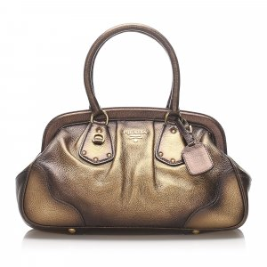 Prada Frame Leather Handbag