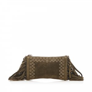 Prada Fringe Suede Clutch Bag