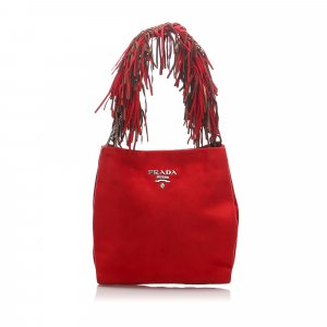 Prada Fringed Suede Shoulder Bag