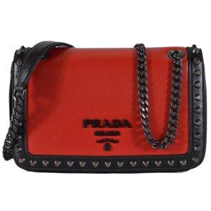 Prada Fuoco & Nero Leather