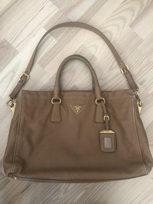 Prada galleria saffiano Cross Body Tasche Leder beige Gold Handtasche