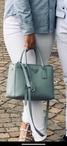 Prada Carry Bag baby blue-silver-colored