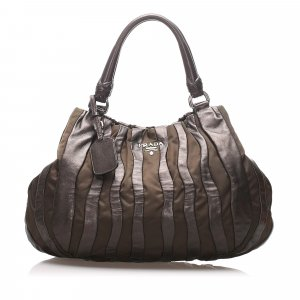 Prada Gathered Leather Handbag