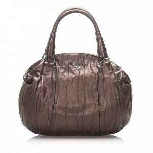 Prada Gathered Leather Handbag