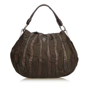 Prada Gathered Leather Hobo Bag