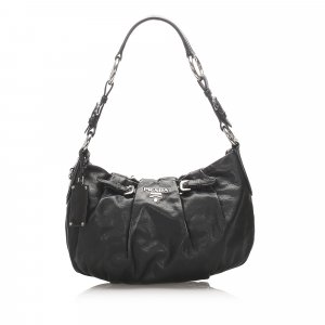 Prada Gathered Leather Shoulder Bag