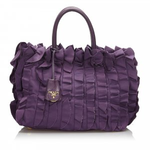 Prada Gathered Nylon Handbag