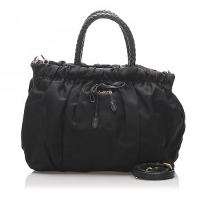 Prada Gathered Tessuto Satchel