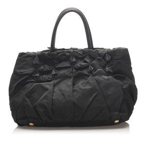 Prada Gathered Tessuto Tote Bag