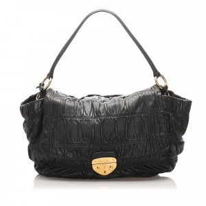 Prada Gaufre Leather Shoulder Bag