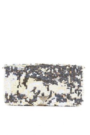 Prada Portafogli oro-argento con glitter