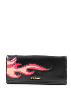 Prada Geldbörse schwarz-pink Motivdruck Casual-Look