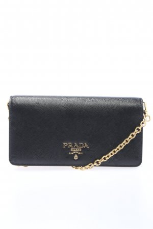 "Prada Geldbörse ""Mini Wallet On Chain Saffiano"" schwarz"