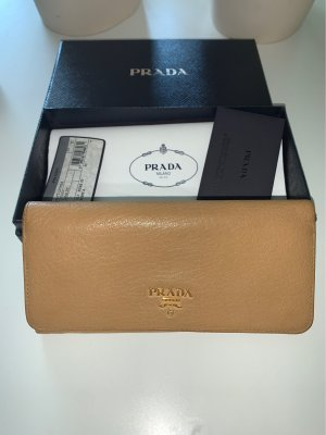 Prada Cartera beige-color oro Cuero