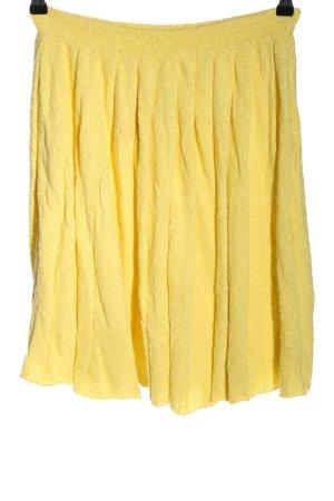Prada Gonna a campana giallo pallido stile casual