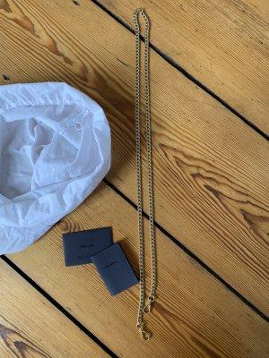 Prada Goldkette Taschenhenkel Gürtel Anhänger