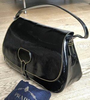 Prada Satchel black-silver-colored leather