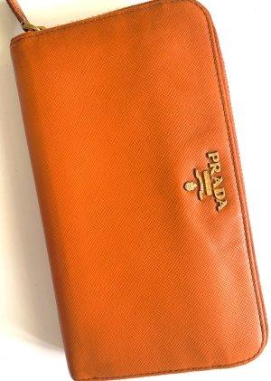 Prada Portemonnee oranje-goud Leer