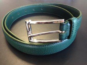 Prada Cinturón verde bosque-color plata