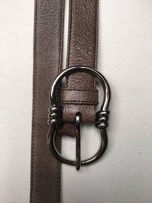 Prada Gürtel Grau Leder