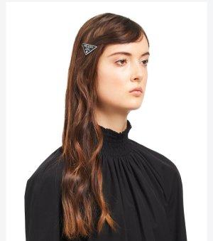 Prada Klamra do włosów czarny