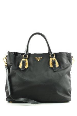 Prada Bolso negro-color oro estilo «business»