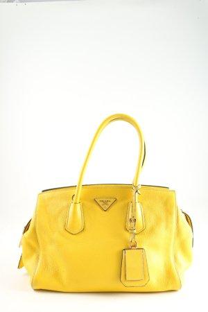 Prada Handtasche blassgelb Casual-Look